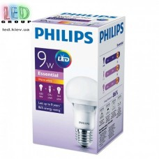 Светодиодная лампа PHILIPS, 9W, E27, 3000K - тёплое свечение