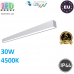 Потолочный светодиодный линейный светильник, master LED, 30W, 4500K, PF>0,9, RA≥80, накладной, ALD, алюминий + PC, серебряный. ЕВРОПА!