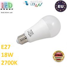 Светодиодная лампа master LED, 18W, E27, 2700К – тёплое свечение. Польша!