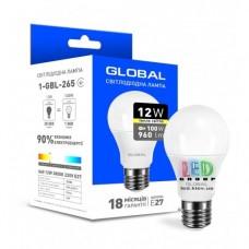 LED ЛАМПА GLOBAL A60 12W ТЕПЛЫЙ СВЕТ E27 (1-GBL-265)