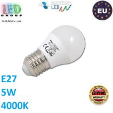 Светодиодная LED лампа, master LED, 5W, E27, 4000К – нейтральное свечение. Польша!