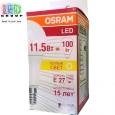 Светодиодная лампа OSRAM, 11.5W, E27, A60, 6500K - холодное свечение
