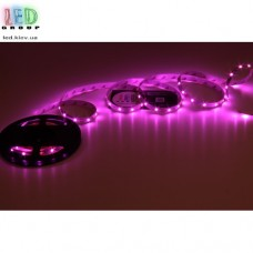 Светодиодная лента 12V, 2835, 60 led/m, 2.6W, IP20, фиолетовый. Гарантия - 6 месяцев
