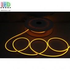 Cветодиодный гибкий неон мини 12V, LED NEON MINI - 13х5мм, цвет свечения - жёлтый