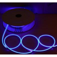 Cветодиодный гибкий неон мини 12V, LED NEON MINI - 13х5мм, цвет свечения - синий