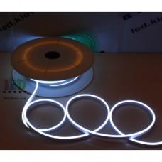 Cветодиодный гибкий неон мини 12V, LED NEON MINI - 13х5мм, цвет свечения - белый, кратность реза 25мм