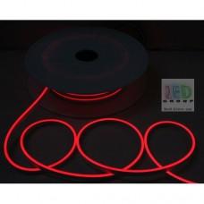 Cветодиодный гибкий неон мини 12V, LED NEON MINI - 13х5мм, цвет свечения - красный