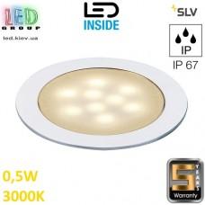 Настенный/потолочный LED светильник SLV 0,5W, 3000K LED SLIM LIGHT, оксидированный алюминий. Германия!
