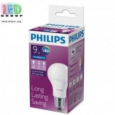 Светодиодная лампа PHILIPS, 9.5W, E27, 6500К - холодное свечение