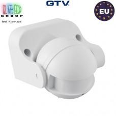 Микроволновый датчик движения с регулировкой чувствительности сумерек GTV, 1200W, IP44, 180, CM-1, белый. ЕВРОПА!!! Гарантия - 2 года