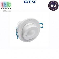 Микроволновый датчик движения с регулировкой чувствительности сумерек GTV, 1200W, IP20, 360, CM-15, белый. ЕВРОПА!!! Гарантия - 2 года