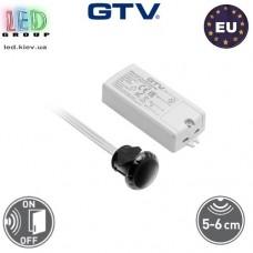 Сенсорный бесконтактный выключатель, врезной, 500W, GTV, однофункциональный. Польша!!! Гарантия - 2 года