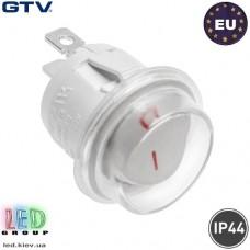 Выключатель качельный GTV, врезной, белый, IP44, макс. 1300W, макс. 230V. ПОЛЬША!!! Гарантия 2 года!