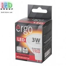 LED лампа ERGO Standard MR16 GU5.3 3W 220V 3000K Теплый белый