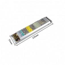 Блок питания 12V, 150W, 12.5А, металлический корпус, IP20, не герметичный, для внутреннего применения. Гарантия - 2 года.