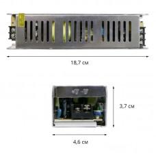 Блок питания 12V, 120W, 10А, STR-120-12, металлический корпус, для внутреннего применения