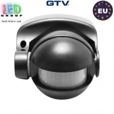 Датчик движения с регулировкой чувствительности сумерек GTV, 1200W, IP44, 180, CR-1, чёрный. ЕВРОПА!!! Гарантия 2 года!