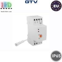 Cумеречный датчик (включатель) GTV, 4800W, сенсор - IP65, включатель - IP20, CZ-1, белый