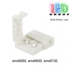 """Коннектор """"клипса 2-pin"""" 10мм для SMD5050, 5630, 5730"""