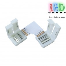 Угловой коннектор RGBW 5-pin с клипсами