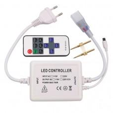 Диммер/контроллер для ленты 220V, 10mm PIN, IR пульт 11 кнопок