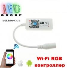 Контроллер/диммер/музыкальный для светодиодных лент 12V RGB, 12А. Wi-Fi, Mini, 3 канала по 4A