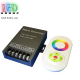 Контроллер/диммер для светодиодных лент 12V RGB, 30А. C сенсорным пультом RF, 3 канала по 10A. Чёрный. Металл