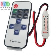 Диммер одноканальный 1x6A Nano с пультом RF, 10 кнопок