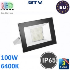 Светодиодный LED прожектор, GTV, 100W, IP65, 6400K, G-TECH, белый. ПОЛЬША!!! Гарантия – 3 года