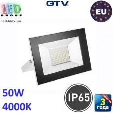Светодиодный LED прожектор, GTV, 50W, IP65, 4000K, G-TECH, белый. ПОЛЬША!!! Гарантия – 3 года