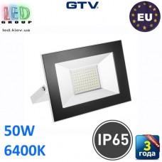 Светодиодный LED прожектор, GTV, 50W, IP65, 6400K, G-TECH, белый. ПОЛЬША!!! Гарантия – 3 года