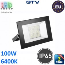 Светодиодный LED прожектор, GTV, 100W, IP65, 6400K, G-TECH, чёрный. ПОЛЬША!!! Гарантия – 3 года