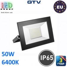 Светодиодный LED прожектор, GTV, 50W, IP65, 6400K, G-TECH, чёрный. ПОЛЬША!!! Гарантия – 3 года
