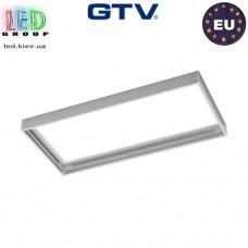 Переходная/монтажная алюминиевая рамка GTV G-Tech для светодиодных панелей 30x60см, монтаж без шурупов, белая. ЕВРОПА!