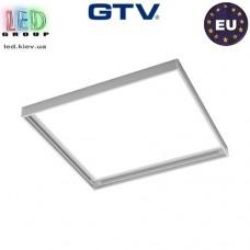 Переходная/монтажная алюминиевая рамка GTV G-Tech для светодиодных панелей 60x60см, монтаж без шурупов, белая. ЕВРОПА!