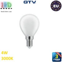 Светодиодная LED лампа GTV, 4W, E14, FILAMENT, 3000К – тёплое свечение. ЕВРОПА!!! Гарантия - 3 года