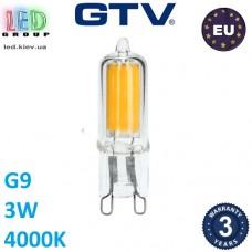 Светодиодная LED лампа GTV, 3W, G9, 4000К – нейтральное свечение. ПОЛЬША!!! Гарантия - 3 года