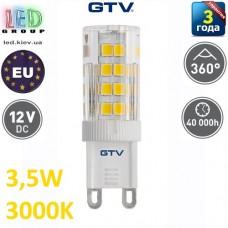 Светодиодная LED лампа GTV, 3,5W, G9, 3000К – тёплое свечение. ПОЛЬША!!! Гарантия - 3 года