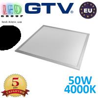 Светодиодная LED панель GTV, EMC+, 50W, 4000К, IP54, 600x600мм, серый, толщина - 10мм, MASTER. ПОЛЬША!!! Premium. Гарантия - 5 Лет