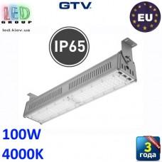 Светодиодный светильник-прожектор HIGH BAY, GTV, 100W, IP65, 4000K, TEKSAS 60º×90º (LED диоды PHILIPS, драйвер MEANWELL). ПОЛЬША!!! Гарантия – 3 года