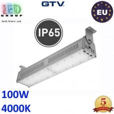 Светодиодный светильник-прожектор HIGH BAY, GTV, 100W, IP65, 4000K, TEKSAS 60º×90º (LED диоды PHILIPS, драйвер MEANWELL). ПОЛЬША!!! Гарантия – 5 лет