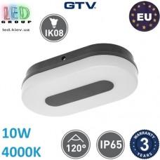Светодиодный светильник GTV, 10W (ЕМС +), 4000К, IP65, овальный, TWIST, белый. ЕВРОПА!!! Гарантия - 3 года