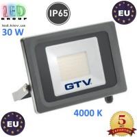Светодиодный LED прожектор, GTV, 30W, IP65, 4000K, VIPER. ЕВРОПА!!! Гарантия – 5 лет!!!