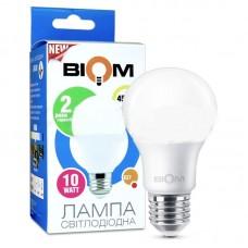 Светодиодная LED лампа Biom, 10W, E27, A60, 4500К – нейтральное свечение. BT-510. Гарантия - 2 года