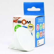 Светодиодная LED лампа Biom, 7W, GU5.3, MR16, 4500К – нейтральное свечение. BT-562. Гарантия - 2 года