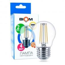 Светодиодная лампа FILAMENT, Biom, 4W, E27, G45, 3000K - тёплый свет (FL-301)