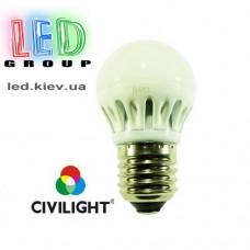 Лампа CIVILIGHT E27 G45 K2F40Т6 metal (7219)