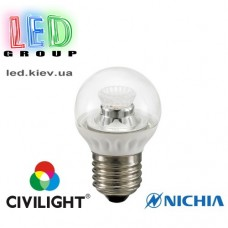 Лампа CIVILIGHT E27 G45 WF35T5 ceramic clear (4989)