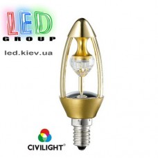 Лампа CIVILIGHT E14 C37 DP35T6 diamond gold (4993)