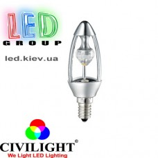 Лампа CIVILIGHT E14 C37 KP35T6 diamond silver (4895)